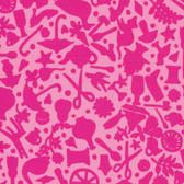 Kaffe Fassett GP119 Folk Art Pink Cotton Fabric By The Yard
