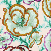 Philip Jacobs PWPJ059 Banded Poppy Peach Cotton Quilting Fabric By Yard