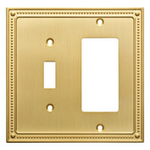 Franklin Brass W35063-BB Beaded Single Switch / GFCI Brushed Brass Cover Plate