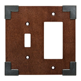W27033-CHS Rowland Charcoal Ebony & Soft Iron Single Switch / GFCI Cover Plate