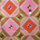 Amy Butler LIAB004 Hapi Sky Pyramid Caramel LINEN Fabric By The Yard