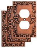 Liberty W35071V-CPS Classic Lace Sponged Copper Single Duplex Cover Plate 3 Pack