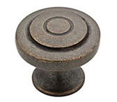 "Liberty P29526K-WCN 1 1/4"" Warm Chestnut Geary Cabinet Drawer Knob 10 Pack"