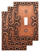 Liberty W35070V-CPS Classic Lace Sponged Copper Single Switch Cover Plate 3 Pack