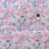 "Pastel Roses Pink 60"" Wide 100% Polished Cotton Fabric By The Yard"