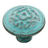 """Liberty  PN1510XX-CP 38mm 1 1/2"""" French Lace Cabinet Drawer Knob Antique Teal"""