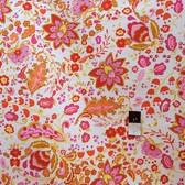 Dena Designs F009 Sunshine Bellflower White Linen Blend Fabric By The Bolt
