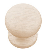 "Liberty PN1051M-UN Maple Spice Unfinished Wood 1"" Cabinet Drawer Knob LOT OF 100"