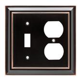 Brainerd W10538-OB Oil Rubbed Bronze Architect Single Switch / Duplex Wall Plate