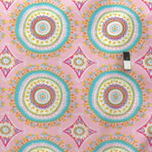 Dena Designs PWDF208 Haute Girls Large Circles Pink Cotton Quilt Fabric By Yard