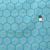 Joel Dewberry PWJD128 Cali Mod Hexablock Teal Cotton Quilting Fabric By Yard