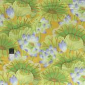 Kaffe Fassett GP93 Lake Blossoms Yellow Cotton Quilting Fabric By The Yard