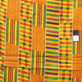 African Kente #1 Print T-5023 Polished Cotton Fabric By The Yard