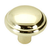 "A39420BP  1"" Brass Cabinet Drawer Pull Knob"