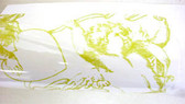 "Gold Cherubs Cellophane Wrap 30"" x 100'"