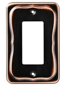144411 Tenley Bronze & Copper Single GFCI Outlet Cover Wall Plate