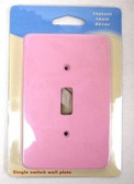 085-03-3828 Pink  Single Switch Cover Plate