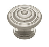 "PN0407-SN Satin NIckel 1 3/8"" Concentric Cabinet Drawer Pull Knob"