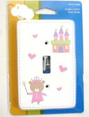 085-03-3609 Princess Bear Single Switch Cover Plate