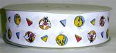 "Sylvester & Tweety Fabric Grosgrain Ribbon 10 Yds 1 1/2"""