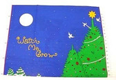 Watch N Grow Christmas Growth Chart Cotton Fabric 1 Pnl
