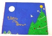 Watch N Grow Christmas Growth Chart Cotton Fabric 1 Pnl