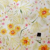 Dena Designs LIDF003 Sunshine Jasmine White Linen Fabric By Yard