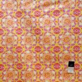 Dena Designs LIDF001 Sunshine Circle Yellow Linen Fabric By Yard