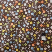 Jenean Morrison PWJM052 Power Pop Sweet Coffee Fabric 1 7/8 Yd
