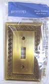 64335 Greek Key Antique Bronze Single Switch Cover Plate