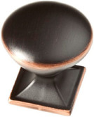 "P20387C-VBC 1 3/8"" Westbrook Bronze w/ Copper Cabinet Drawer Knob"