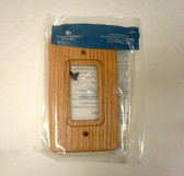 64622 Medium Oak Wood Single GFCI Cover Plate