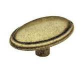 P30045-AE Antique English Brass Oval Drawer Cabinet Knobs