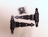 """B3140 Heavy Duty Gate Hardware 8"""" Non-Removable Pin Hinge Black 2 Pack"""