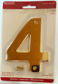 "BH3084-PB 5"" House Number Polished Brass ""4"""