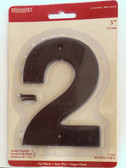 "BH3082-FB 5"" House Number Flat Black ""2"""