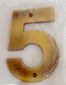 "BH3085-AB 5"" House Number Antique Brass ""5"""
