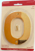 "BH3080-PB 5"" House Number Polished Brass ""0"""