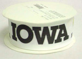 "Iowa Hawkeyes Grosgrain Ribbon 1 1/2"" Wide 10 Yards"