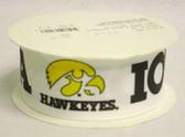 """Iowa Hawkeyes Grosgrain Ribbon 1 1/2"""" Wide 10 Yards"""