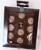 "085-03-0803 Satin Nickel 1 1/4"" Raised Ring Cabinet Drawer Knob 10 Pack"