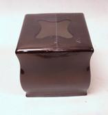 41840 Monticello Facial Tissue Box Cover Ceramic w/ Venetian Bronze Finish