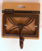 139143 Rust Contempo Dragonfly Double Prong Coat and Hat Hook