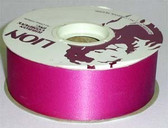 "Large Roll of Lion 1 3/8"" Wide Acetate Gift Wrap Ribbon Foy Pink  50 Yards"