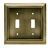 W062ZMC-SAB Architect Double Switch Cover Plate Antique Satin Bronze