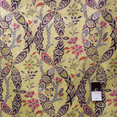 Victoria & Albert VOVA002 Bromley Ikat Damask Citron VOILE Cotton Fabric By Yard