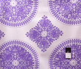 Ty Pennington PWTY020 Fall Impressions Medallion Lavender Cotton Fabric By Yd