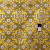 Jenean Morrison Grand Hotel Room Service Gold Fabric 1 1/4 Yd