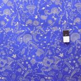 Dan Bennett PWDB027 Ruby Tattoo Sapphire Cotton Fabric By Yd