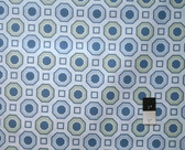 Annette Tatum AT29 Little House Honey Comb Ocean Fabric 1 1/4 Yard